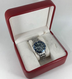 Ship Free Mens Wrist Watches Australia - Free shipping Brand New Blue Dial And Bezel Men's Sport Wrist Watches co-axial Luxury Automatic Movement Mens machinery Watch original Box