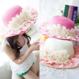$enCountryForm.capitalKeyWord Canada - 2016 Real Hot Sale Wide Brim Hat Multi Embossing Joker The Warp Knitting Summer In South Korea Lace Flower Big Hat Children Sun Brim Beach