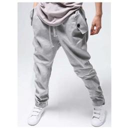 Cool Hip Hop Harem Pants Canada - Wholesale-Cargo jogging men sweatpants cotton men's hip hop sports harem jogger Cool Harempants mens Joggers Drawstring sweat pants