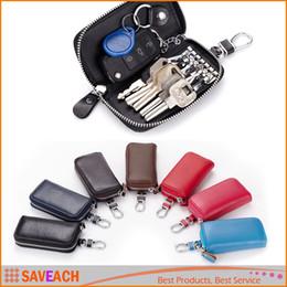 $enCountryForm.capitalKeyWord NZ - Fashion gifts, Multi-function Car Key Holder Organizer Manager, PU Leather Zipper Key Wallet Case Box, Car Keychain for Women Men