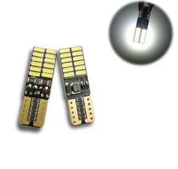Discount auto cars 24 - White Canbus Car Light T10 w5w led 194 3014 Chip 24 SMD Auto Car Light Clearance Lights Driving Lamp DC 12v Car Styling