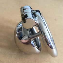 "small chastity cages 2021 - New Lock Design 25mm Cage Length Stainless Steel Super Small Male Chastity Devices 1"" Short Cock Cage With Sounds Urethral For Men"