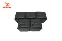 Wholesale Pieces High Quality Jewelry display Stand Black Leather Christmas Ring Holder Leather Storage Boxes