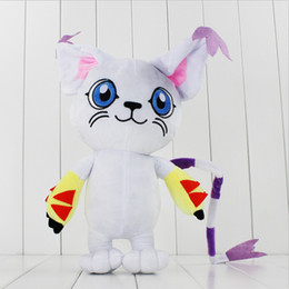 Discount foam figures kids Anime Japanese Digimon Adventure Tailmon Plush Soft Stuffed Doll Toy for kids gift toy 45cm free shipping EMS