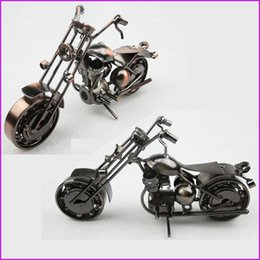 Wholesale American Style Handmade Iron Art Metal Craft Harley Motorcycle Model Toy Motorbike Models Toys Home Office Bar Decoration Souvenir