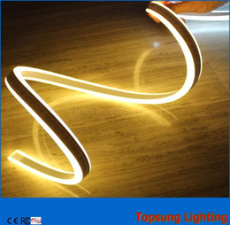 Chinese  Amazing 50m spool 8*18mm double sided emitting led neon tube lights mini flexible neon strip waterproof IP75 for rooms110V 120V multi colors manufacturers
