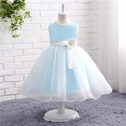 $enCountryForm.capitalKeyWord NZ - Lovely Really Photo In Stock Sleeveless O-Neck Holy Communion Dresses For Girls Knee-Length Tulle And Flowers Dress Communion