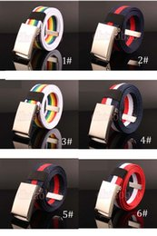 wholesale candy korean 2019 - Moq=10pcs New Unisex Fashion Korean Casual Candy Color Canvas Belt Outdoors Square Buckles Students Belts 6 Colors Free