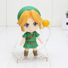 China 10cm The Lengend Of Zelda Link Majora's Mask 3D Version 553 PVC Action Figure Collectable Model toy free shipping retail suppliers