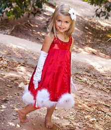 $enCountryForm.capitalKeyWord NZ - baby girls Christmas dresses children kids bling princess red dresses sequined clothes Christmas New year party New arrival