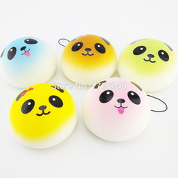 panda cell phone charm 2019 - Wholesale-30PCS Lot 7CM Colorful Panda Squishy Cell Phone Straps Charms Kawaii Buns Bread Scented Key Chain Wholesale di