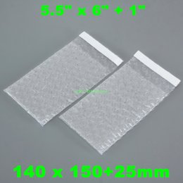 Plastic bag Packaging quality seal online shopping - High Quality Air Bubble Bags Self Seal Plastic Clear Packing Pouches Smooth on Both Sides quot x quot quot _140 x mm for CD DVD Packaging