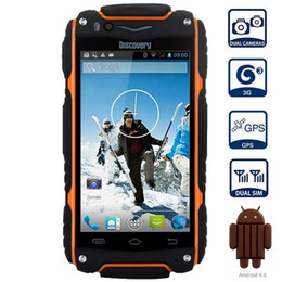 "gravity ebook UK - DHL Free Discovery V8 3G SmartPhone waterproof shockproof 4.0"" IPS Android 4.4 Dual Core 5.0MP Dual Sim WCDMA cell phone"