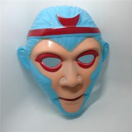 $enCountryForm.capitalKeyWord NZ - Cute Animal Monkey Mask for Kids Adult Christmas Monkey Mask Plastic Festive Party Full Face Halloween Cosplay Masks 100pcs lot