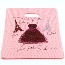 Heißer Verkauf! 300pcs 20X25cm Eiffelturm Plastiktaschen Schmuck Geschenkbeutel, Schmuck Beutel