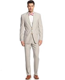 $enCountryForm.capitalKeyWord UK - Wholesale - Beach Tuxedos Men Suits for Wedding 3 Pieces Men Suits Custom Made Groom Wedding Suits Groom Tuxedos Best Man Suits Jacket+Pants
