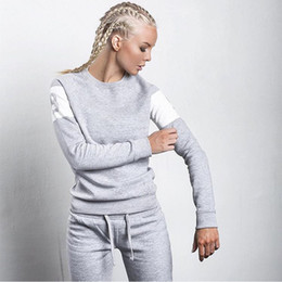 Sport Women Suit Long NZ - Hot sales, womens new autumn and winter hooded. Sweatshirts suits, casual sports movement printing woman jogging suits Tracksuits