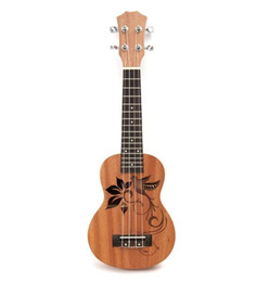"""Chinese  21"""" Mini Sapele Ukulele Ukelele Rosewood Fingerboard Guitar Mahogany Neck Delicate Tuning Peg Nylon String Matte Kids Gift manufacturers"""