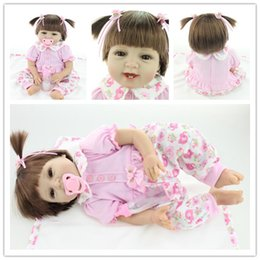 Real Pictures 22 Inch 55cm Newborn Lifelike Soft Vinyl Silicone Reborn Girl  Dolls Handmade Realistic Baby Alive Doll Kid Girls Gift Toys dc6a958c1d63