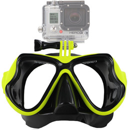 Water Proof Coatings Australia - Scuba Diving Mask Goggles Swimming Snorkeling Anti Fog Coated Tempered Glass 100% Leak-Proof Design Compatible GoPro Hero Water Sport