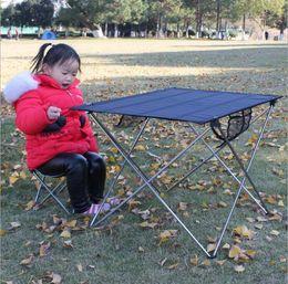Folding Tables Aluminum NZ - Outdoor folding table chair super light aluminum alloy folding table portable table outdoor picnic tables and chairs wholesale