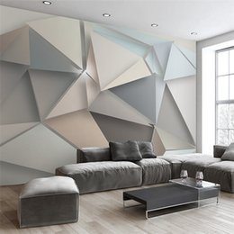 printing background wedding 2019 - Custom Photo Wall Paper 3D Modern TV Background Living Room Bedroom Abstract Art Wall Mural Geometric Wall Covering Wall