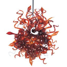 China Hotel Lobby Ceiling Decorative Glass Material Modern Chandelier LED Light Source 100% Mouth Blown Murano Glass Chihuly Style Art Chandelier supplier modern style ceiling light suppliers