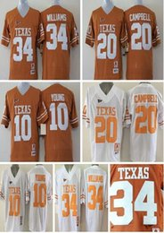 sports shoes 3c8a4 045d5 mens texas longhorns 20 earl campbell white throwback ncaa ...