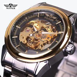 $enCountryForm.capitalKeyWord NZ - 2019 NEW!Winner Mechanical Watch Men Top Brand Hollow Skeleton Automatic Mechanical Watch Men Steampunk Steel Watches Gear Watch Erkek Saat