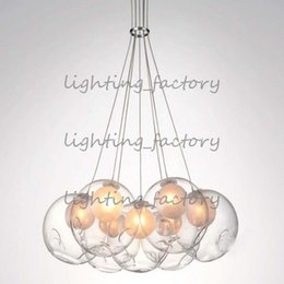 $enCountryForm.capitalKeyWord NZ - LED Modern Double Cover Glass Ball Pendant Light Soap Bubble Suspesion Lamp 19 heads for Living Room Chandelier 19 head