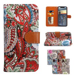Discount flower leather flip phone case for iPhone 7 Plus Case Luxury Flip Leather Flower Floral Wallet Purse Cover for iPhone 6 6s Plus Samsung S8 S8Plus Phone Cases