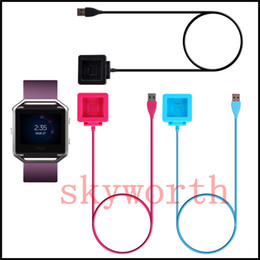 $enCountryForm.capitalKeyWord NZ - Charging Cable Charger Power Adapter Dock Cradle Cord Wire For Fitbit Blaze Smart Watch Black blue Pink