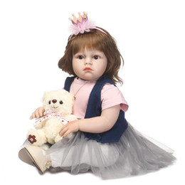 $enCountryForm.capitalKeyWord Canada - Soft Silicone Realistic Reborn Toddlers Girls Baby Handmade Dolls 28 Inch Babies Kids Toys With Hair
