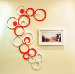 decoration wall stickers circles 2019 - Fashion Hot 100 Set color Indoors bathroom home Decoration Circles Creative Stereo Removable 3D DIY Wall Stickers JF-273