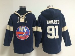 Hoodie Sweatshirts Cheap NZ - Youth Hockey Jersey Cheap, New York Islanders Hoodie 91 John Tavares Kids 100% Stitched Embroidery Logos Hoodies Sweatshirts Navy blue S-XL