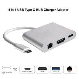 $enCountryForm.capitalKeyWord Canada - Portable 4 In1 USB Type-C 4K 2K HDMI RJ45 Hub PD Charger Converter Lan Adapter External USB-C Type-C Network Card USB Ethernet