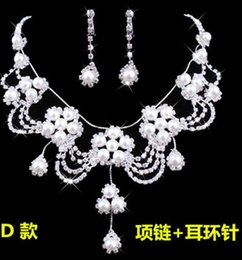 wonderful necklace Canada - wonderful white diamond stone bride wedding jewelry set necklace earing siii6