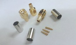 Sma connector crimp online shopping - 100pcs Gold plated SMA Male Plug Straight Crimp for RG58 LMR195 Connector
