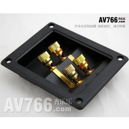 Hi Fi Speaker Boxes Canada - Quality hi fi speaker wiring box 4 audio terminal speaker terminal block audio clamp