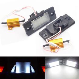 Vw Golf Light Bulbs Canada - 2x Error Free 18 LED License Number Plate Light Car Lamp Bulb fit for Porsche Cayenne VW Touareg Tiguan Golf 5 5D touring Passat