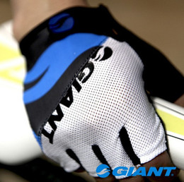 Wholesale Giant Half Finger Men Women Cycling Gloves Slip for mtb bike bicycle guantes summer breathable ciclismo racing luvas sport