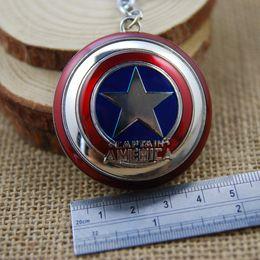 $enCountryForm.capitalKeyWord Canada - Free DHL The Avengers Captain America Shield 2 Color Zinc Alloy EDC Key Chain Action Figure Movie Toy Pendant Keyring K18E