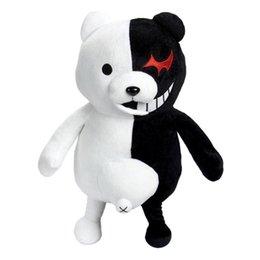 25 cm Cute Cartoon Dolls Dangan Ronpa Monokuma bambola giocattoli di peluche Orso bianco nero Giocattoli per bambini di alta qualità Bambino regalo di compleanno