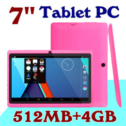 $enCountryForm.capitalKeyWord Australia - 40X DHLcheap 2016 tablets 7 inch 512MB RAM 4GB ROM A33 Quad Core Tablet Allwinner Android 4.4 Capacitive WIFI Dual Camera facebook Q88 A-7PB