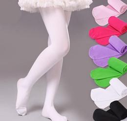 Children Hose Canada - New Baby Girls Kids Dancing Panty-hose Pure Color Pantyhose Socks Children Socks Leggings Pantyhose Child Socks Kids Cotton Stocking