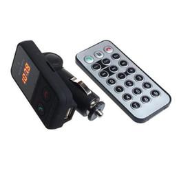 Car Radio Built Speaker Canada - BT301 Wireless Bluetooth LCD FM Transmitter Modulator USB SD Car Kit Portable MP3 Player SD Remote with MIC