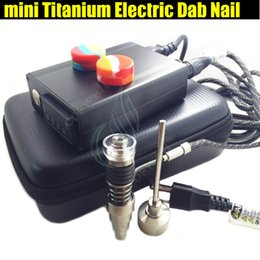 China Mini electric Titanium Dab nail universal DNail set for 10 16 20mm female glass water pipe bong 6in1 bongs ecigs Rig vaporizer Kits suppliers