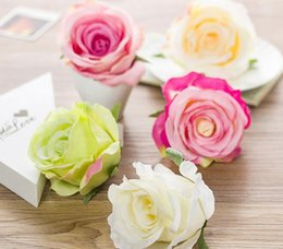 Wholesale Simulation flower wedding roses head arches flower wall decoration flower silk fabric artificial false flowers CM flowers