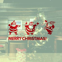 $enCountryForm.capitalKeyWord Canada - YO-98 Christmas Decoration Decal Three Lovely Santa Claus Home Shop Window Vinyl Wall Sticker Kids Room Decal Sticker SIY Decor YO-98