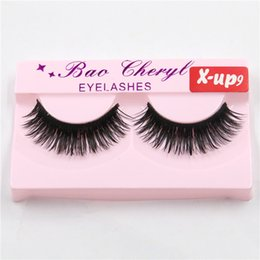 X Long Hair Canada - High Quality Eyelash Black False Eyelashes Handmade Natural Long Thick Beautiful Makeup Eyelash Fake Eye Lash extensions X-up9 Factory Price